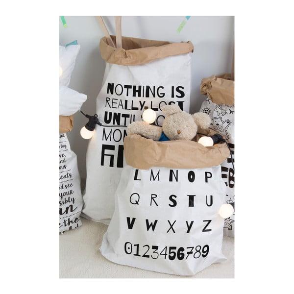Úložný pytel z recyklovaného papíru Little Nice Things ABC