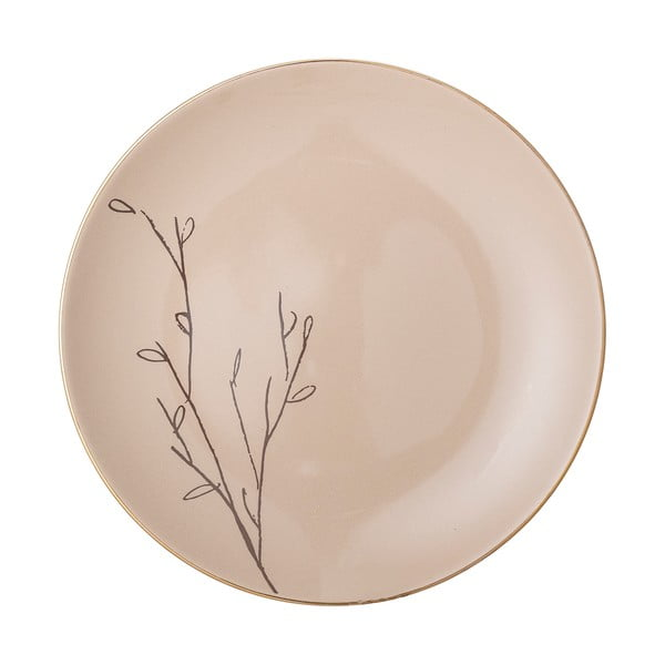 Růžový keramický mělký talíř Bloomingville Rio, ⌀22 cm