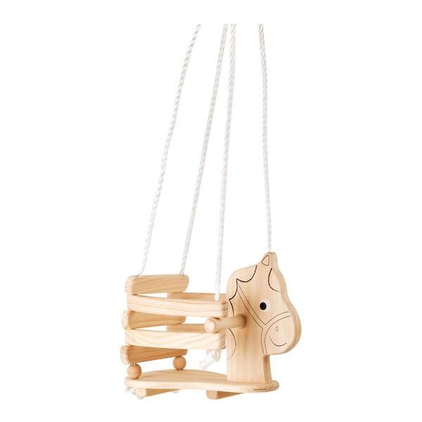 Leagăn din lemn pentru copii Legler Horse