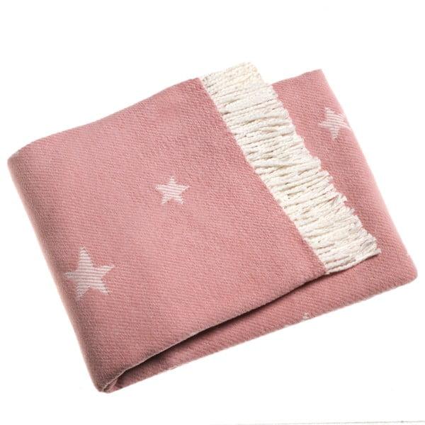 Stars rózsaszín pléd, 140 x 180 cm - Euromant