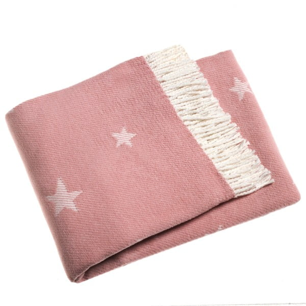 Růžová deka Euromant Stars 140x180 cm
