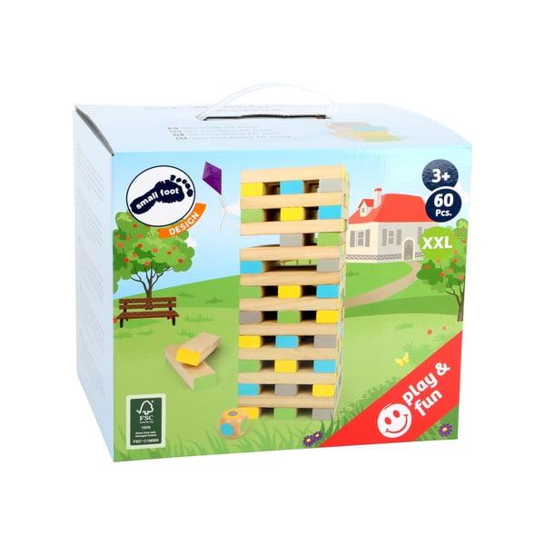 Detská drevená veža z kociek Legler Tower, 60 ks