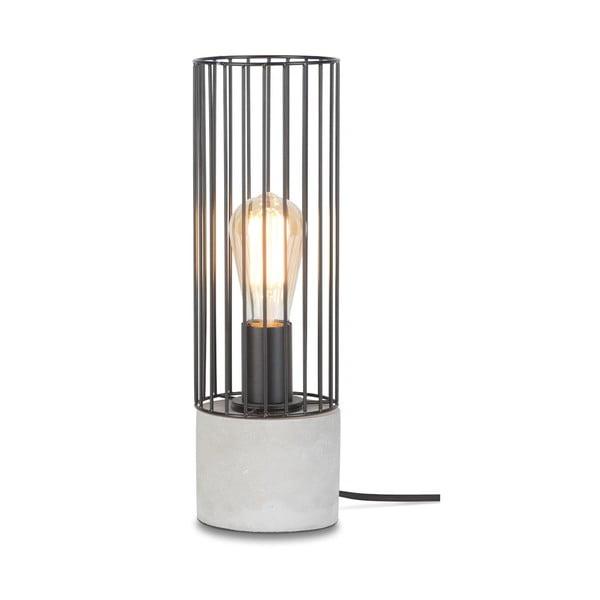 Memphis fekete asztali lámpa, beton talpazattal - Citylights