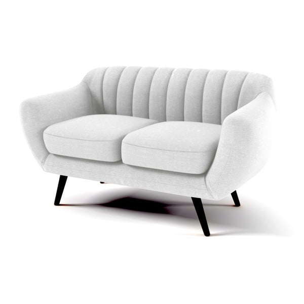 Canapea cu 2 locuri Vivonita Kennet, gri pastel