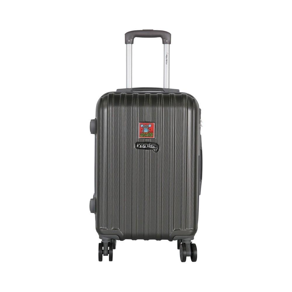 Tmavě šedý příruční kufr LULU CASTAGNETTE Edge, 44l