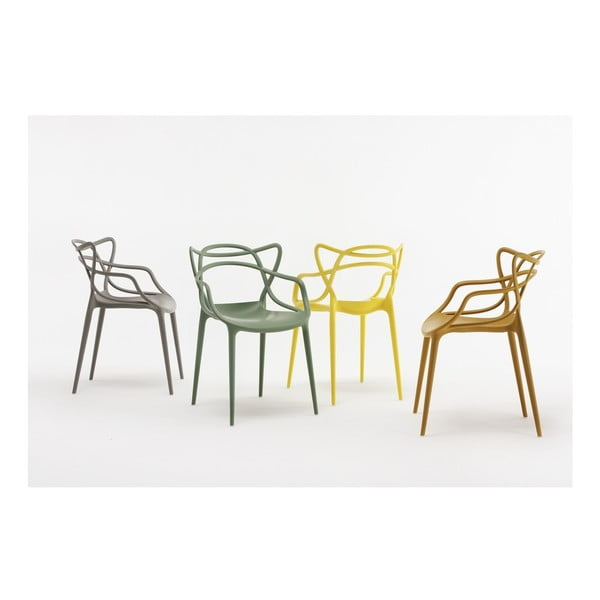 Šedá židle Kartell Masters