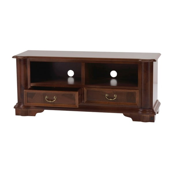 Hnědý TV stolek Folke Amadeus, délka125cm