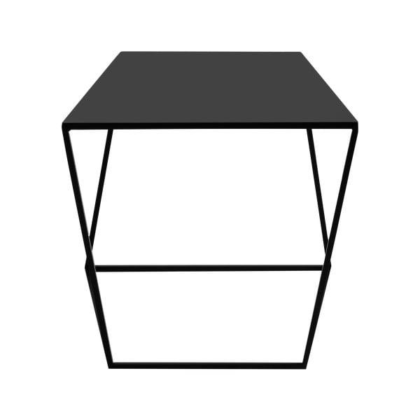 Čierny odkladací stolík Custom Form Zak, 35 × 50 cm