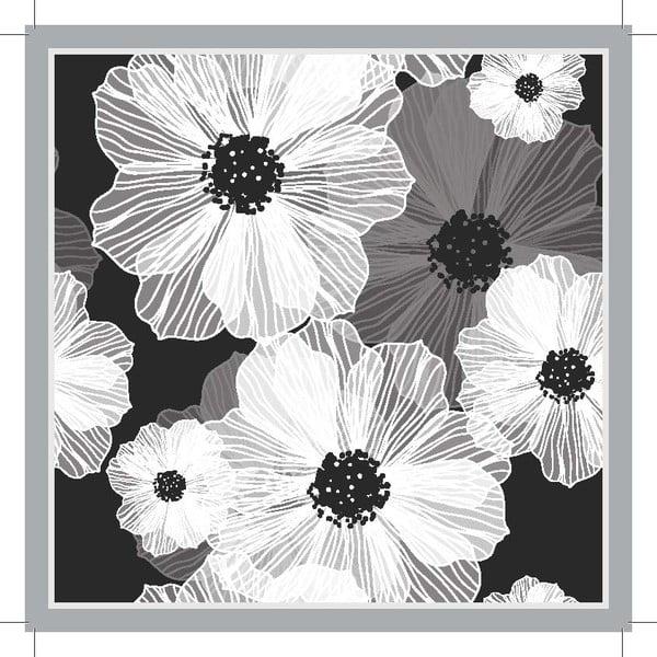 Sada 2 prostírání Grey Flower, 20x20 cm