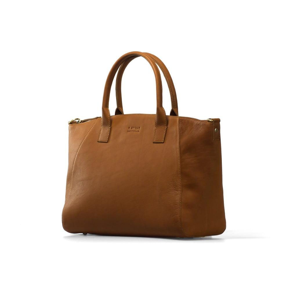 ... Koňakově hnědá kožená kabelka O My Bag Fly Violet Midi Midnight ... cdb270da758