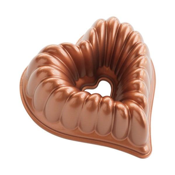 Formă pentru copt în formă de inimă Nordic Ware Heart, 2,4 l, arămiu