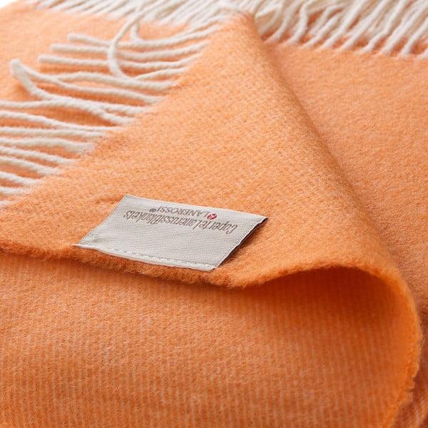 Vlněný pléd Liverpool 130x180 cm, oranžový