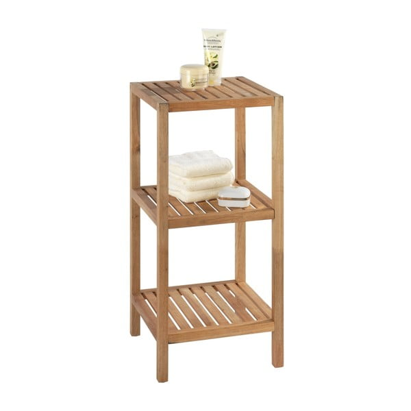 Suport din lemn pentru baie cu 2 rafturi Wenko Norway