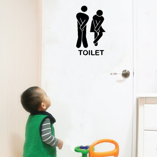 Dekorativní samolepka Toilet, 13x18 cm