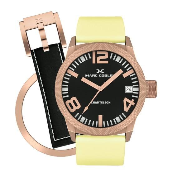 Dámské hodinky Marc Coblen s páskem a kroužkem navíc P117