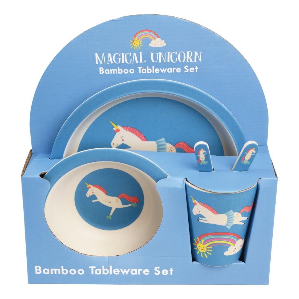 Sada 5 kusů dětského nádobí z bambusu Rex London Magical Unicorn
