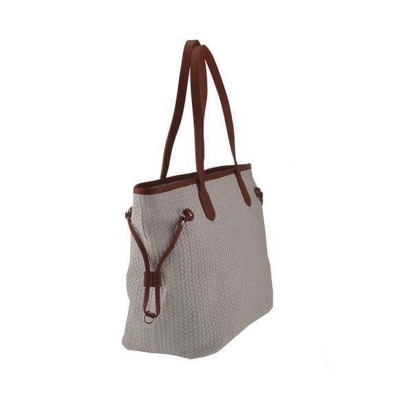 Šedá kožená kabelka Florence Merga