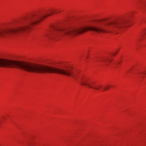 Červené elastické prostěradlo Homecare,190-200x200-220cm