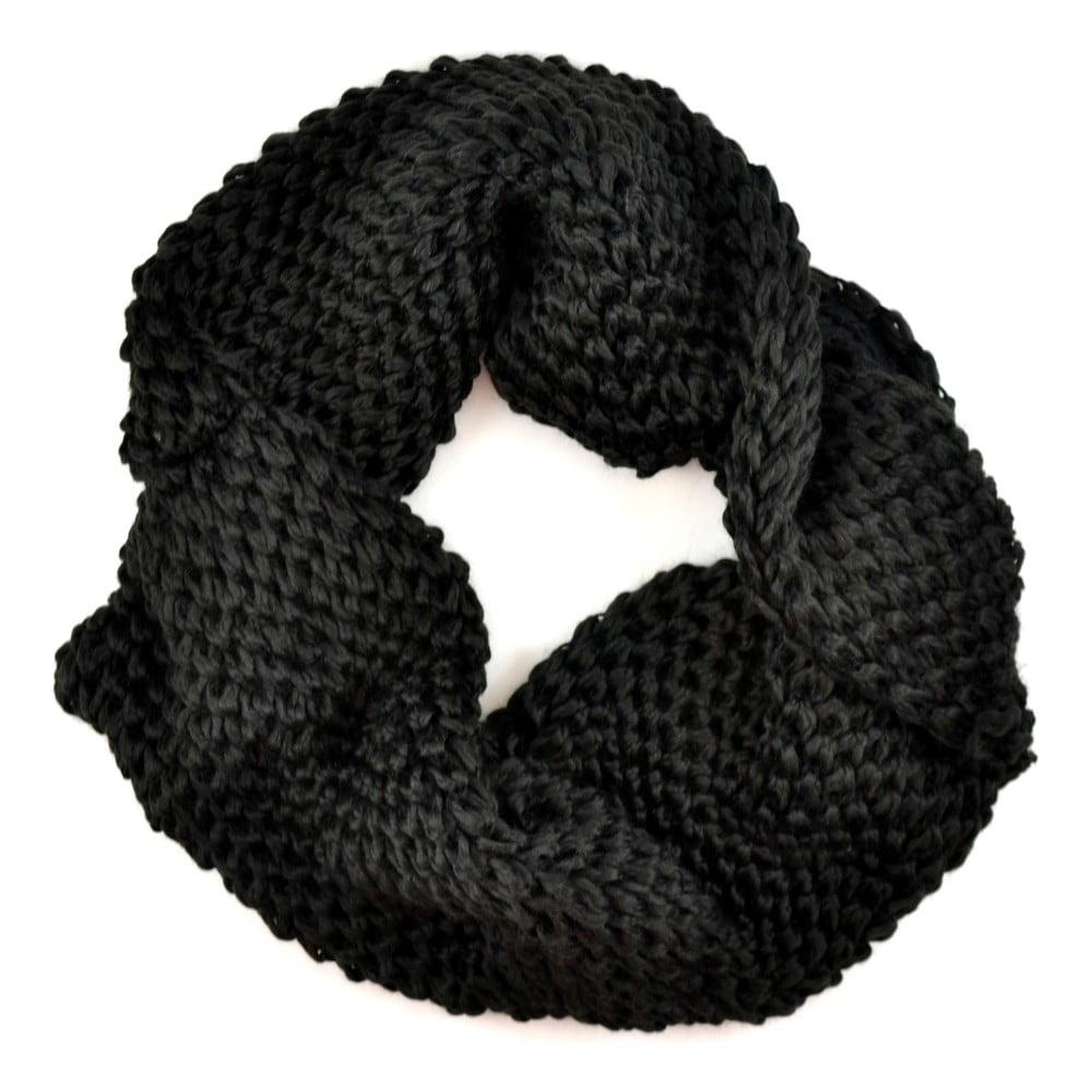 Dámská kruhová šála Komin Black  02f7d66bc3