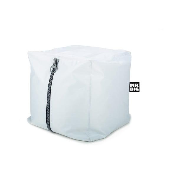 Sedací puf Mr. Cube, bílý