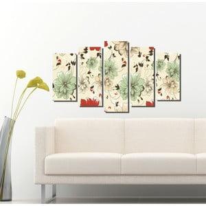 5dílný obraz Květinová
