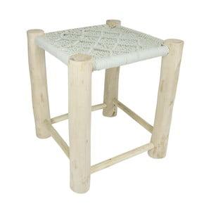 Mintově zelená dřevěná stolička HF Living, 40x40cm