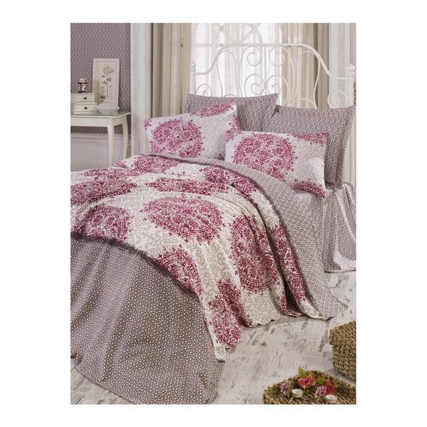 Roma Fuchsia pamut ágytakaró, 200x235 cm
