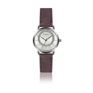 Dámské hodinky s vínovým páskem z pravé kůže Walter Bach Union