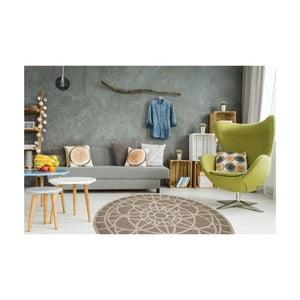 Vysoce odolný koberec vhodný do exteriéru Floorita Tondo Mink, ⌀ 194 cm