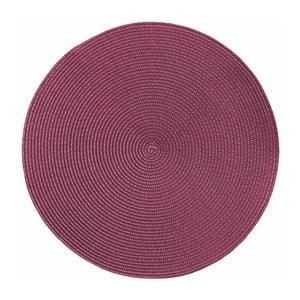 Růžové kulaté prostírání Tiseco Home Studio Round Chambray, ø38cm