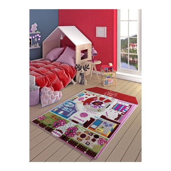Dětský červený koberec Confetti Pretty Home, 133x190cm