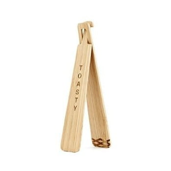 Clește din bambus pentru toast Kikkerland Tongs de la Kikkerland