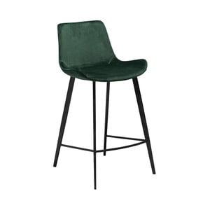 Tmavě zelená barová židle DAN–FORM Denmark Hype Velvet
