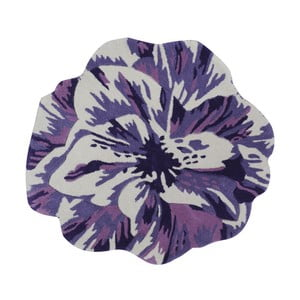 Ručně vyráběný koberec The Rug Republic Juniper Purple, ⌀ 90 cm