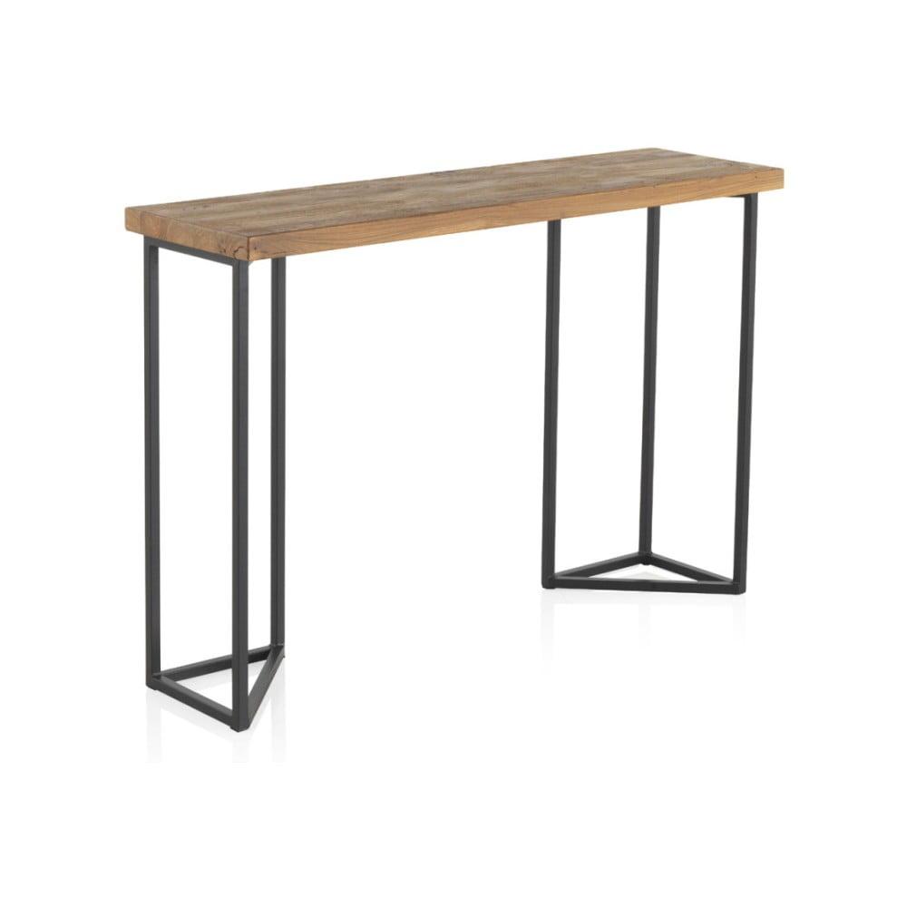 Konzolový stolek s deskou z jilmového dřeva Geese Lorena, výška 83 cm