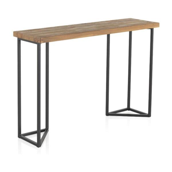 Konzolový stolík s doskou z brestového dreva Geese Lorena, výška 83 cm
