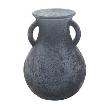 Vază din sticlă reciclată Mauro Ferretti Anfora, ⌀11,5cm, albastru de la Mauro Ferretti