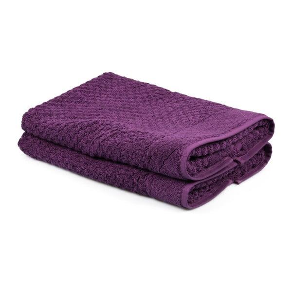 Sada 2 fialových ručníků ze 100% bavlny Mosley, 50x80cm