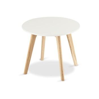 Măsuță de cafea din lemn Furnhouse Life, Ø 48 cm, alb
