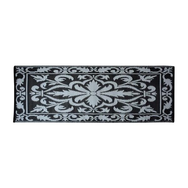 Šedo-černý balkonový koberec Esschert Design
