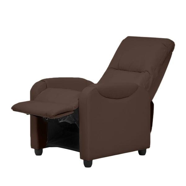Relaxační křeslo Arton, tmavě hnědá koženka