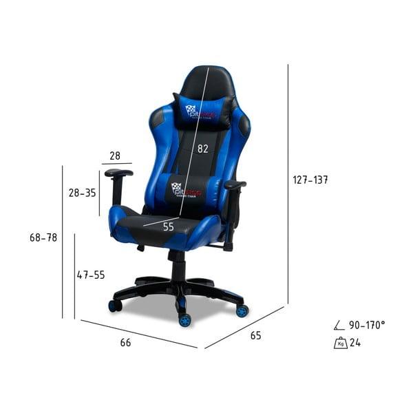 Černomodrá ergonomická kancelářská židle Furnhouse Gaming