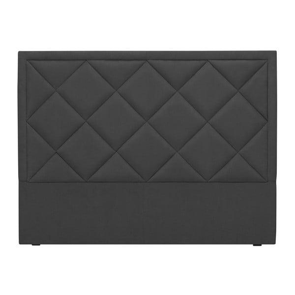 Tmavě šedé čelo postele Windsor & Co Sofas Superb, 140 x 120 cm