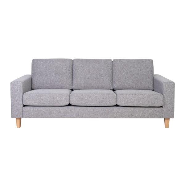 Focus szürke háromszemélyes kanapé - Softnord