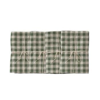 Set 4 șervețele textile Linen Couture Green Vichy, 43 x 43 cm imagine