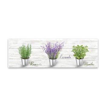 Tablou Styler Canvas Shabby Herbs, 27 x 75 cm de la Styler