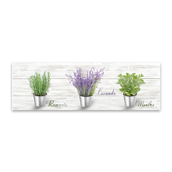 Tablou Styler Canvas Shabby Herbs, 27 x 75 cm