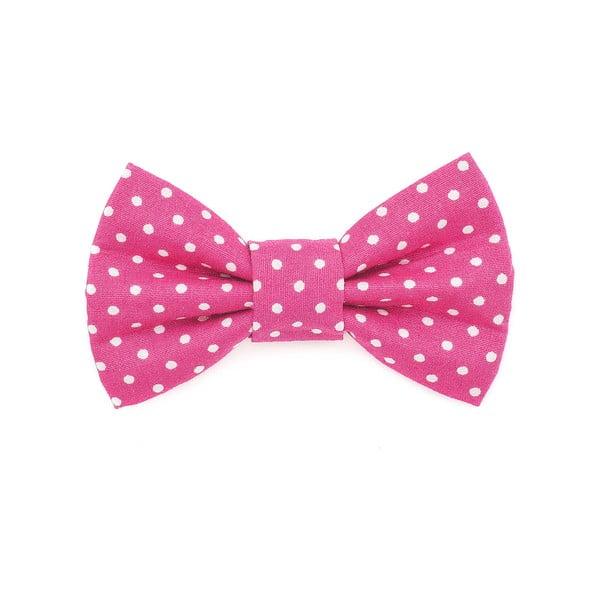 Růžový charitativní psí motýlek s puntíky Funky Dog Bow Ties, vel. M