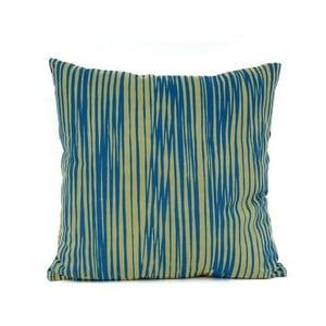 Modrý vzorovaný polštář s výplní Present Time Oblique