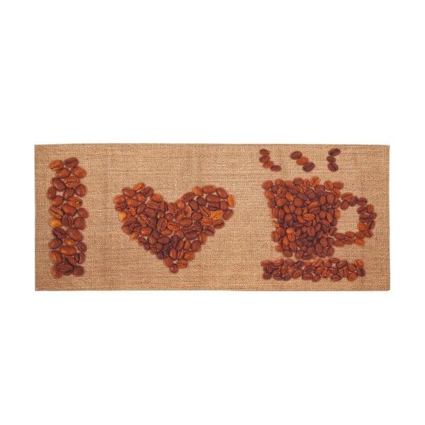 Love coffee fokozottan ellenálló konyhai szőnyeg, 60 x 150 cm - Floorita